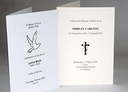 funeral order of service wetherby leeds west yorkshire write design print. Black Bedroom Furniture Sets. Home Design Ideas