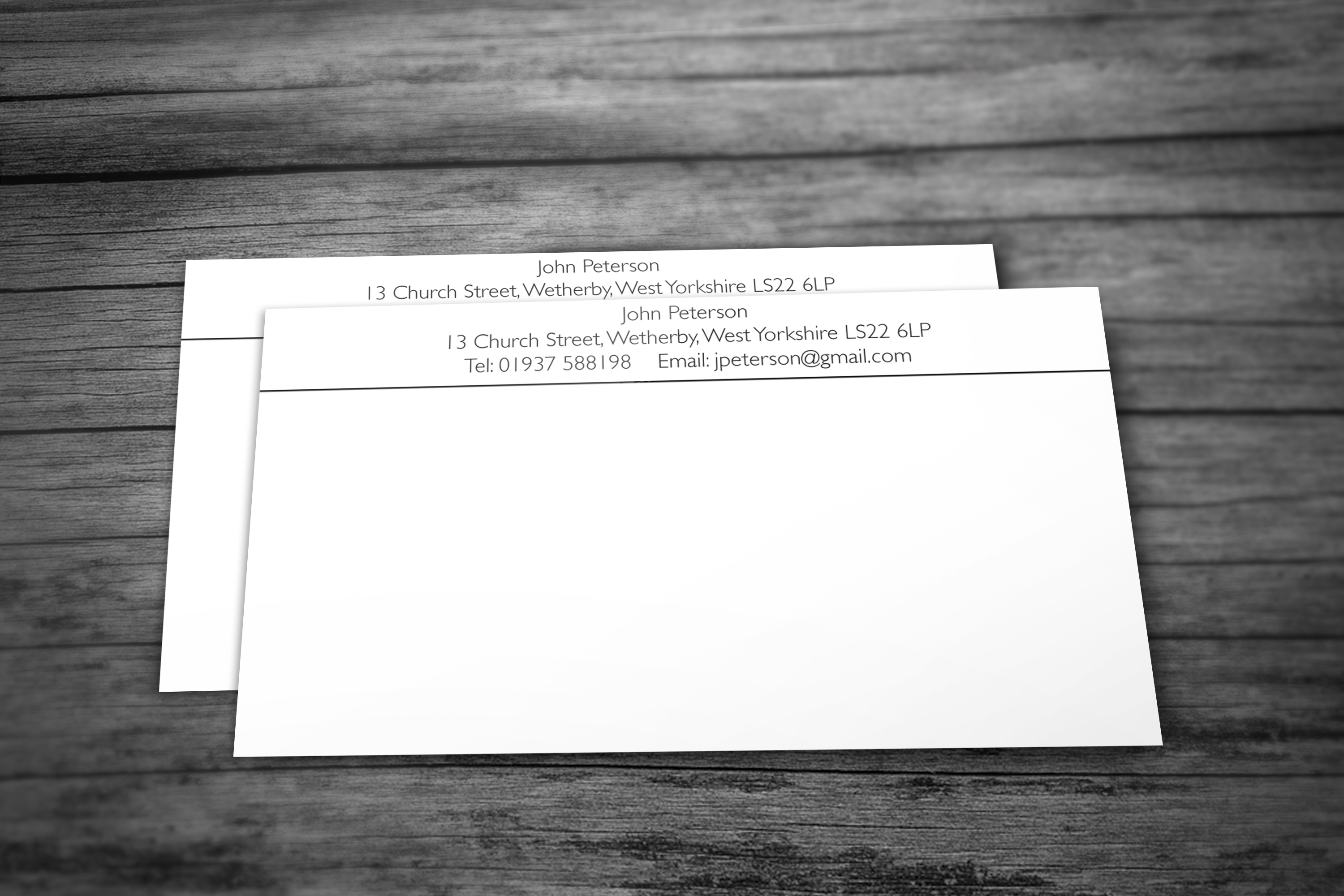 personal stationery wetherby leeds west yorkshire write
